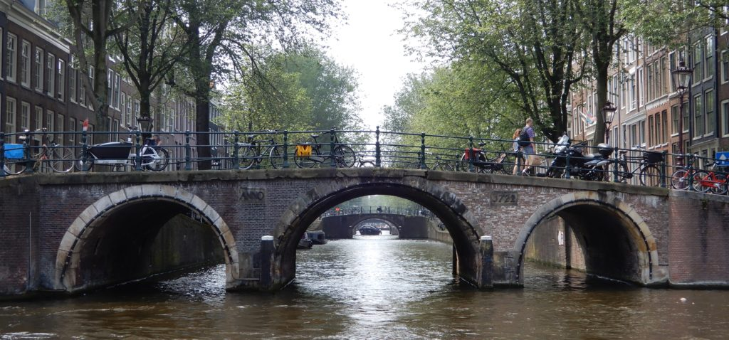 The famous bridges of Amsterdam